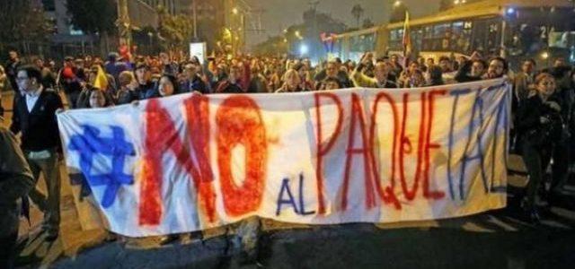 Ecuador – Convocan a huelga general contra el ajuste de Moreno y el FMI