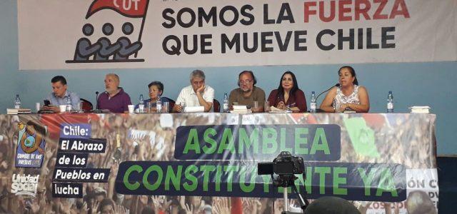 El Abrazo de Los Pueblos antineoliberal y de solidaridad internacionalista con Chile en lucha.