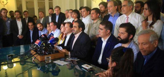 FRENTE AL MAYOR FRAUDE DE LA HISTORIA POLÍTICA CHILENA. ACUERDO DE LA CLASE POLÍTICA