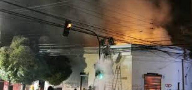 Carabinero detenido en Talca por encender barricada