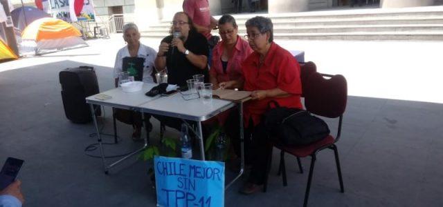 Conversatorio Chile Mejor sin TLC en Campamento Dignidad: el gobierno avala un tratado que seguirá destruyendo los territorios