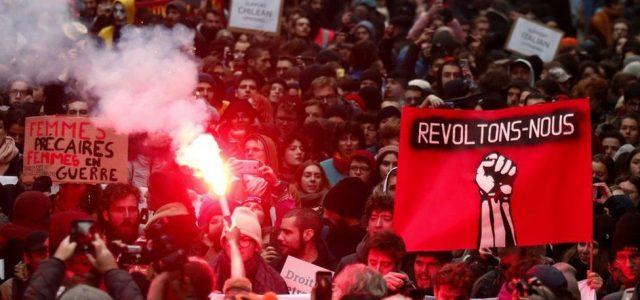 Los trabajadores franceses están decididos a derrotar a Macron