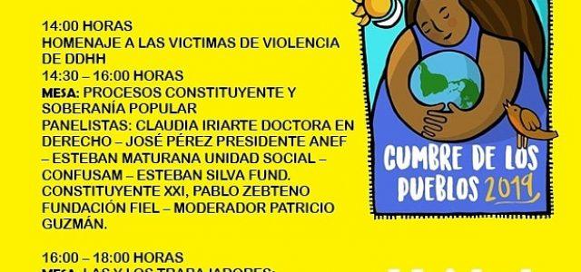 Acto en la CUT por las víctimas de la rebelión social y Mesa sobre la Asamblea Constituyente, el camino constituyente del pueblo. 2 de diciembre a las 14 pm.