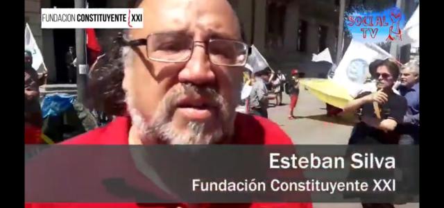 Esteban Silva explica las razones del acampe y movilización de Unidad Social ante el Congreso.