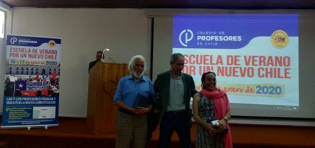 Dra Claudia Iriarte expone sobre el proceso Constituyente y la AC en la Escuela de Verano del Colegio de Profesores