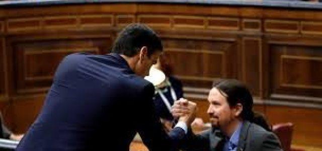 """Estado español – Un gobierno de """"progreso"""" bajo el chantaje golpista de un bloque reaccionario"""