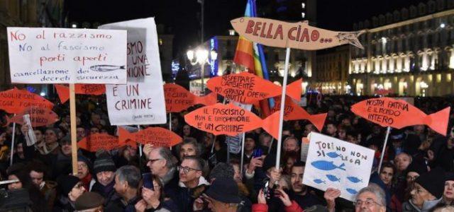 ITALIA: LA IZQUIERDA CLASISTA ENTRE LAS SARDINAS ROMANAS