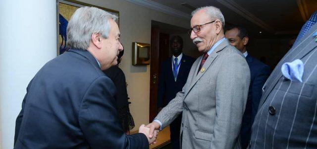Presidente saharaui Gali con Guterres, SG de la ONU: «No participaremos de ningún proceso que no respete la independencia»