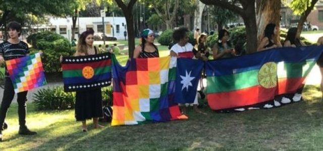 Argentina – Se realizó actividad cultural-política en solidaridad con la «primera línea» de la revuelta en Chile (video)