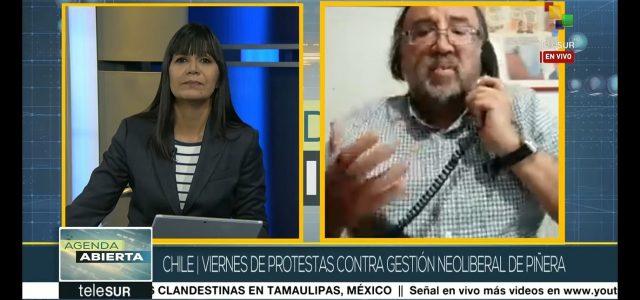 «En Chile se quebró la hegemonía del modelo neoliberal de capitalismo salvaje.» Análisis de Esteban Silva en Telesur