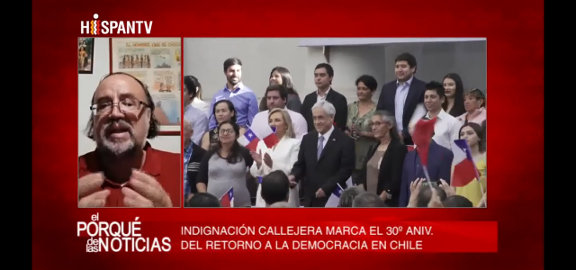 «En Chile hay desobediencia civil y movilización en rechazo  al modelo neoliberal y al gobierno de Piñera». Análisis de Esteban Silva en Hispantv