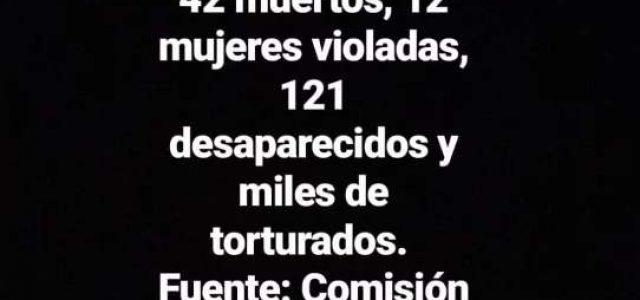 Lista de 42 fallecidos en el levantamiento social