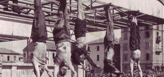 1945. Ejecución del dictador fascista Mussolini