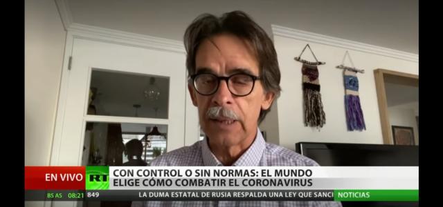 Cual es la mejor forma de combatir el COVIDー19 ?  Dr. Esteban Maturana: «Hay gobiernos y países que han privilegiado la economía y otros la vida y salud de las personas.». Análisis en Rusia Today TV