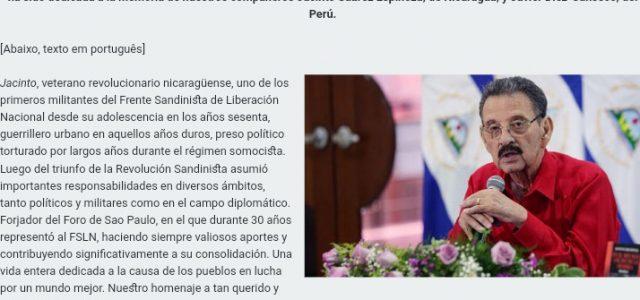 Foro de Sao Paulo llama a la «Unidad y solidaridad antimperialista ante la pandemia».