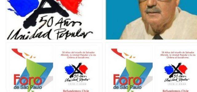 50 Años: Foro de Sao Paulo organizara Encuentro Internacional por los 50 Años del triunfo de Salvador Allende y la Unidad Popular.