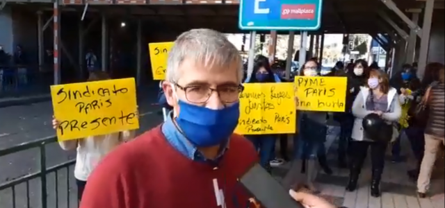 Trabajadores del Sindicato de Almacenes Paris de ciudad de Los Ángeles, se movilizan por sus derechos