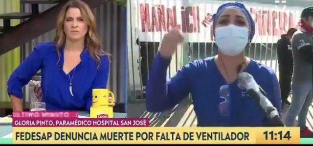 VIDEO: Paramédico del Hospital San José denunció que no hay ventiladores, que falta personal y que no tienen los elementos mínimos de protección