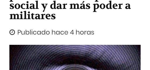 ALERTA: Piñera hace avanzar peligroso sistema de inteligencia para neutralizar protesta social y dar más poder a militares